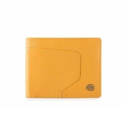 Cartera de Piel PU4823AOR amarillo -11,5x9,5x1cm-