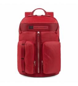 Mochila de Piel CA5038BIO rojo -27x41x12cm-