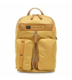 Mochila de Piel CA5038BIO amarillo -27x41x12cm-