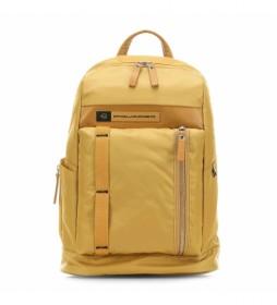 Mochila de Piel  CA4545BIO amarillo -31x43x16cm-