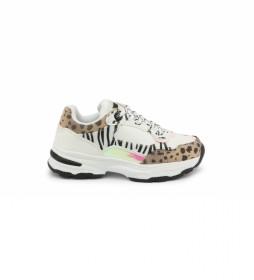 Zapatillas 2007-001 blanco -Altura plataforma+cuña: 4cm-
