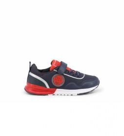 Zapatillas E9015-007 azul, rojo