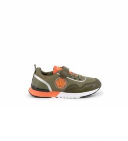 Zapatillas E9015-007 verde, naranja