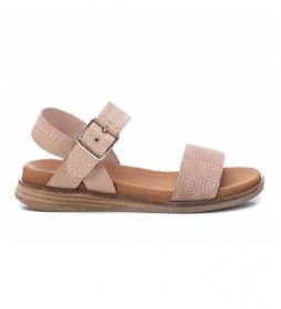 Sandalias de piel 067864 nude