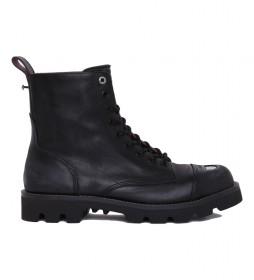 Botas de piel D-Konba CB negro