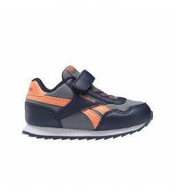 Zapatillas Royal Classic Jogger 3 azul, naranja