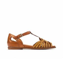 Sandalias de piel Talavera W3D mostaza