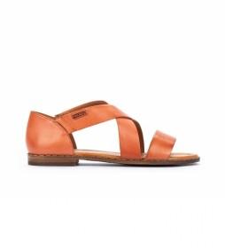Sandalias de piel Algar W0X naranja
