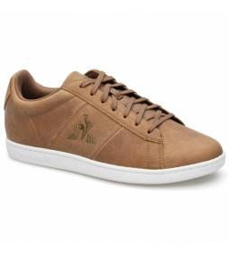 Zapatillas de piel Courtclassic marrón