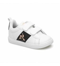Zapatillas de piel COURTCLASSIC INF GIRL blanco, negro