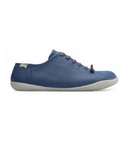 Zapatos de piel Peu Cami azul