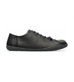Zapatillas de piel Peu Cami negro