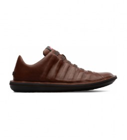 Zapatillas de piel Beetle marrón