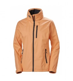 Chaqueta W Crew Hooded Jacket naranja / Helly tech / DWR / Polartec /