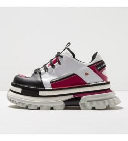 Zapatos de piel 1640 Art Core 2 blanco, rosa, negro -Altura plataforma: 6,5cm-