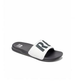 Chanclas One Slide blanco, gris