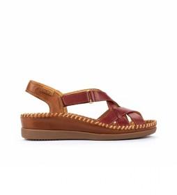 Sandalia de Piel Cadaques W8K rojo