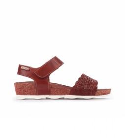 Sandalias de piel Mahon W9E rojo