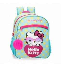 Mochila Hello Kitty Pretty Glasses verde -27x33x11cm-
