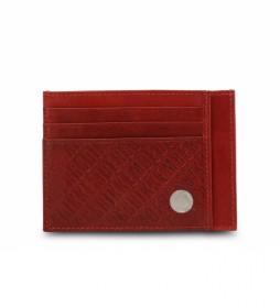 Cartera de piel E91PME553093 rojo 11x8x0.5cm