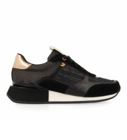 Zapatillas de piel Baltimore negro, dorado