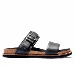 Sandalias de piel Amalfi Vibes negro