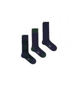 Pack de 3 Calcetines Blackwatch marino, verde