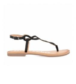 Sandalias de piel Fyffe  negro
