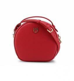 Bolso de mano de piel DOTTY_WB00107 rojo -19x18x8cm-