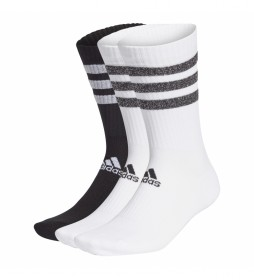 Pack de 3 calcetines Glam Cushioned 3S blanco, negro