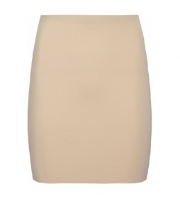 Falda lencera Shapewear invisible beige