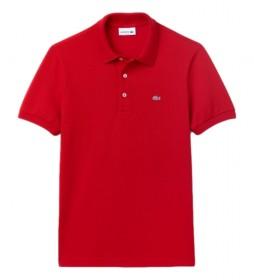 Polo MC Chemise Col Bord-Cotes rojo