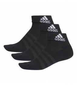 Pack de 3 calcetines CUSH ANK 3PP negro
