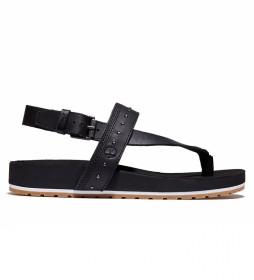 Sandalias de piel Malibu Waves negro