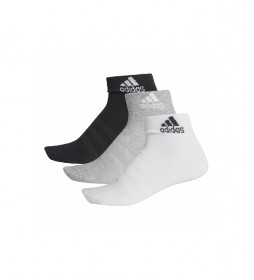Pack de 3 calcetines LIGHT ANK 3PP blanco, negro, gris