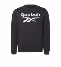 Sudadera cuello redondo Reebok Identity Fleece negro