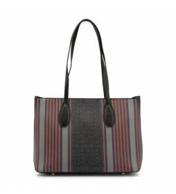 Shopping bag MS126-83681 negro -36.5x26x13cm-