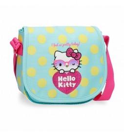 Bandolera Hello Kitty 4265421 azul - 17x15x4cm -