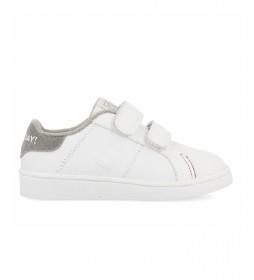Zapatillas de piel Volsk blanco, gris