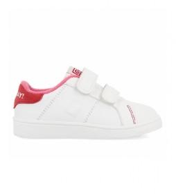 Zapatillas de piel Volsk blanco, rosa