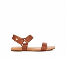 Sandalias de piel Rynell marrón