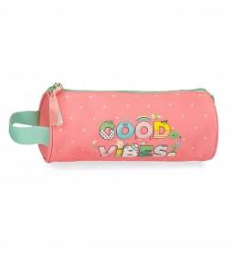 EstucheGood Vibes rosa, multicolorr -23x9x9cm-