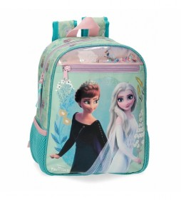 Mochila Preescolar  Frozen Follow Your Dreams turquesa -23x28x10cm-