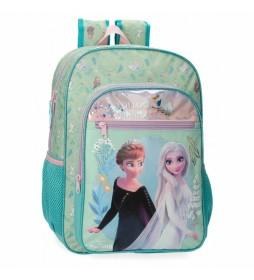 Mochila Escolar Frozen  Follow Your Dreams turquesa -30x40x13cm-