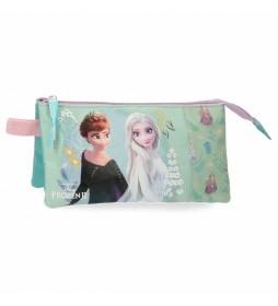 Estuche Frozen  Follow Your Dreams turquesa  -22x12x5cm-