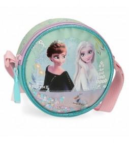 Bandolera Redonda Frozen  Follow Your Dreams turquesa -14x14x4cm-
