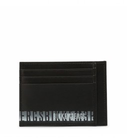 Cartera de piel E2BPME1F3093 negro -11x8x0.5cm-