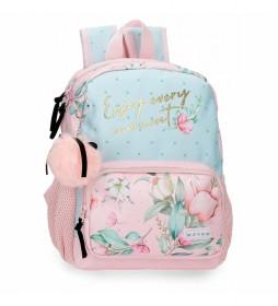 Mochila pequeña Movom Enjoy Every Moment rosa, multicolor -23x28x10cm-