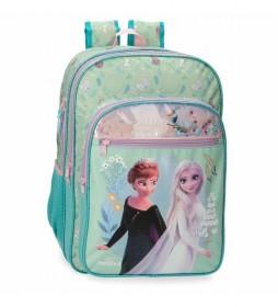 Mochila Escolar Frozen Follow Your Dreams turquesa, multicolor -31x42x13cm-