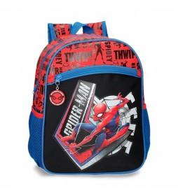 Mochila Spiderman Great Power azul, rojo -27x33x11cm-